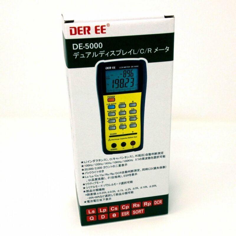 DER EE DE-5000 High Accuracy Handheld LCR Meter ONLY Metar New F/S