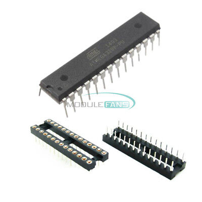 Atmega328p-pu With Arduino Uno Bootloader Atmel Dip28 Dip Socket