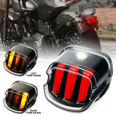 Xprite LED Rear Tail Light Brake Smoked for Harley Davidson Sportster Softail