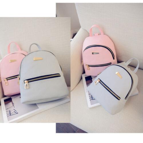 Women Backpack Travel Mini Small PU Leather Handbag Shoulder