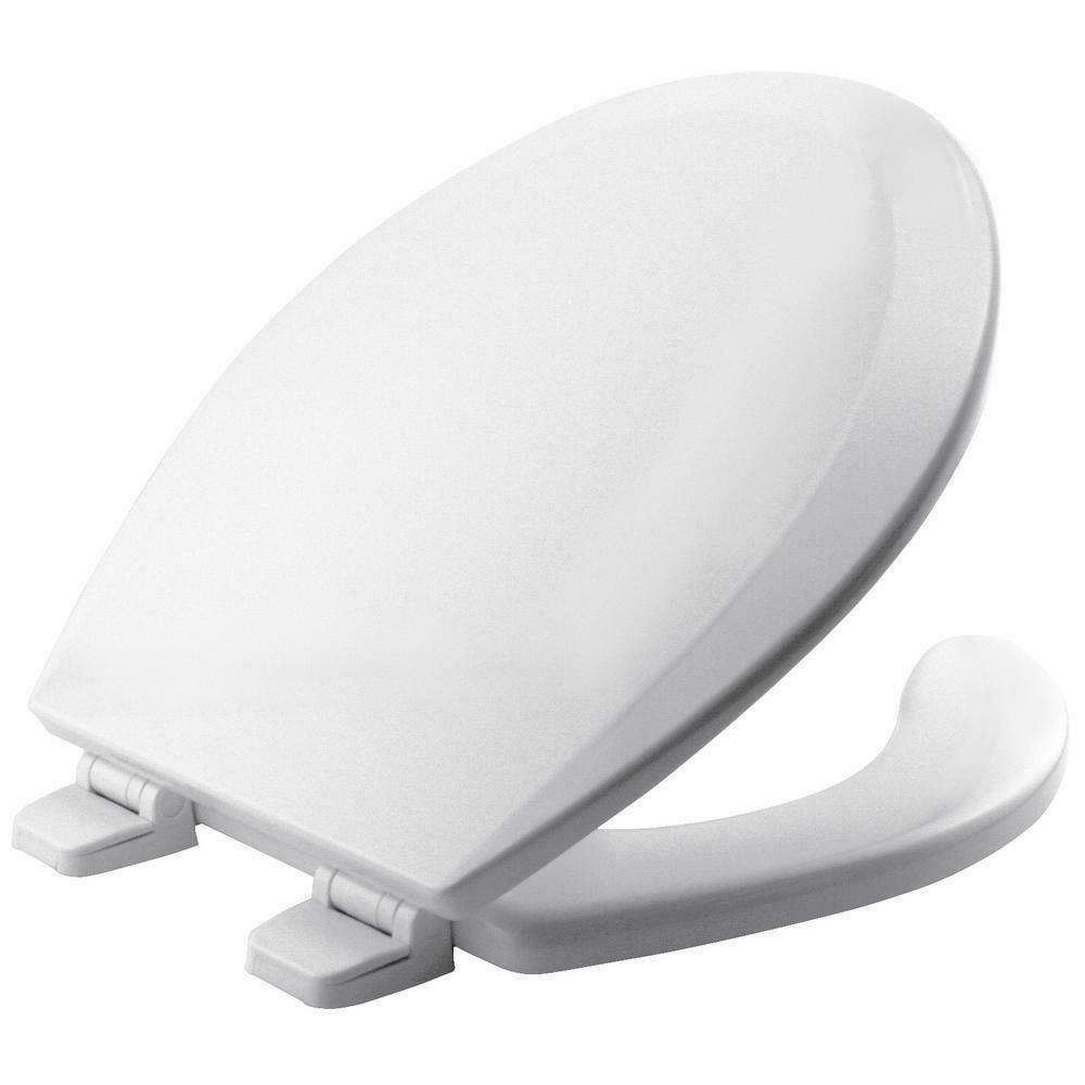 Toilet Seat Lid Cover White Wood