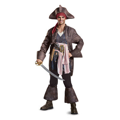 arrow Deluxe Pirate Costume (Mens Jack Sparrow Kostüm)