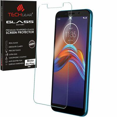 Genuine TECHGEAR TEMPERED GLASS Screen Protector for Motorola Moto E6 Play