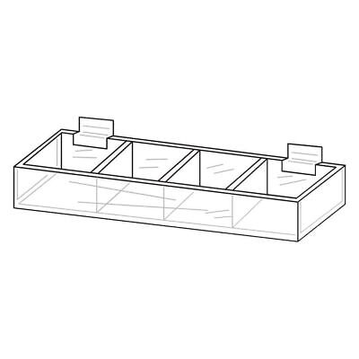 Acrylic Display Trays For Slatwall 28038