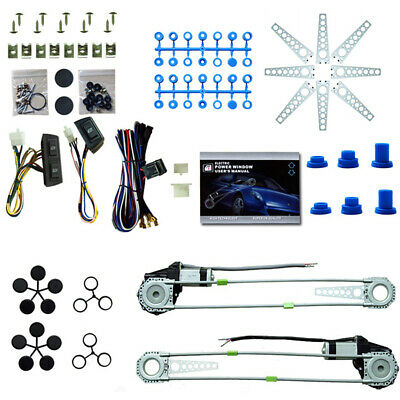 Universal Electric Power Window Lift Regulator Conversion Kit 2 Door Pickup (Best Power Window Kit)