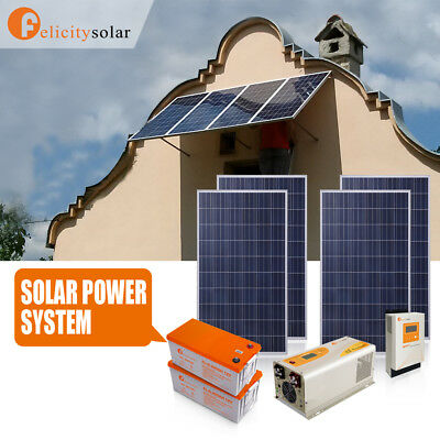 3.5KVA Solar Power Panel Charger Home System Kit Battery