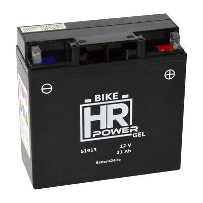 GEL Motorradbatterie 12V 21Ah 51913 BMW R850 R1100 R1150 GS K1200 mit ABS 52001
