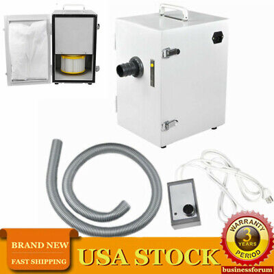 370w Dental Lab Single-row Digital Dust Collector Vacuum Bench Cleaner Usa Stock