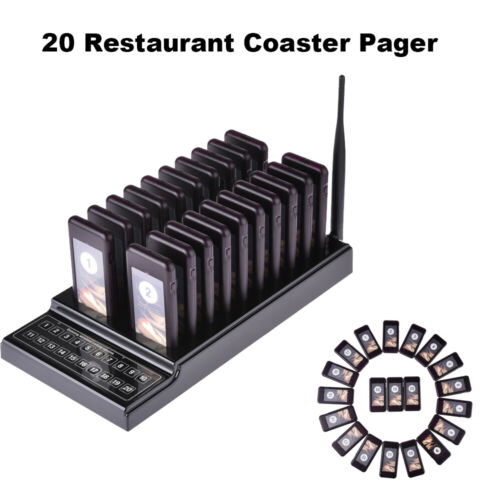 Restaurant Calling Queuing System Chargeable Keypad 1 Transmitter+20 Receivers