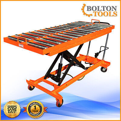 Bolton Tools Hydraulic Scissor Lift Roll Top Table Cart 1100 Lbs Tf50br