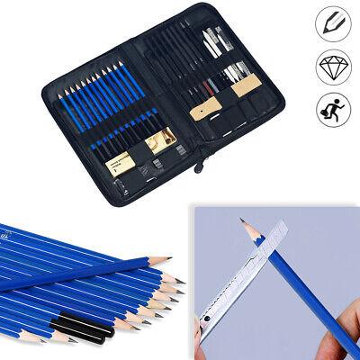 40 tlg Skizzierstifte Set Bleistifte Zeichnen Skizzieren Kohlestift Zeichenstift