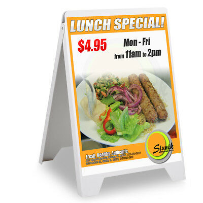 A Frame Double Side Pvc Sign Board Shop Cafe Restaurant Market Menu Fold Stand