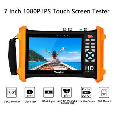 7inch CCTV Tester Camera AHD CVI CVBS Analog Video Monitor HDMI UTP Audio test