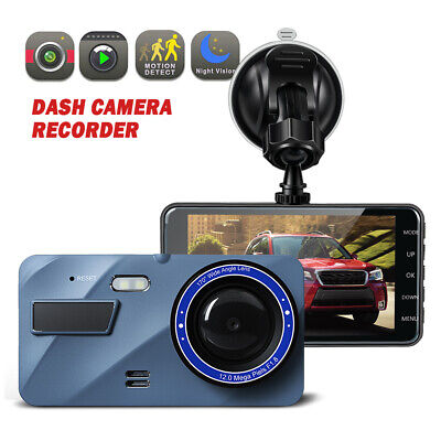 "4"" FHD 1080P 140 170 Wide Angle Dash Cam Loop Recording G-se"