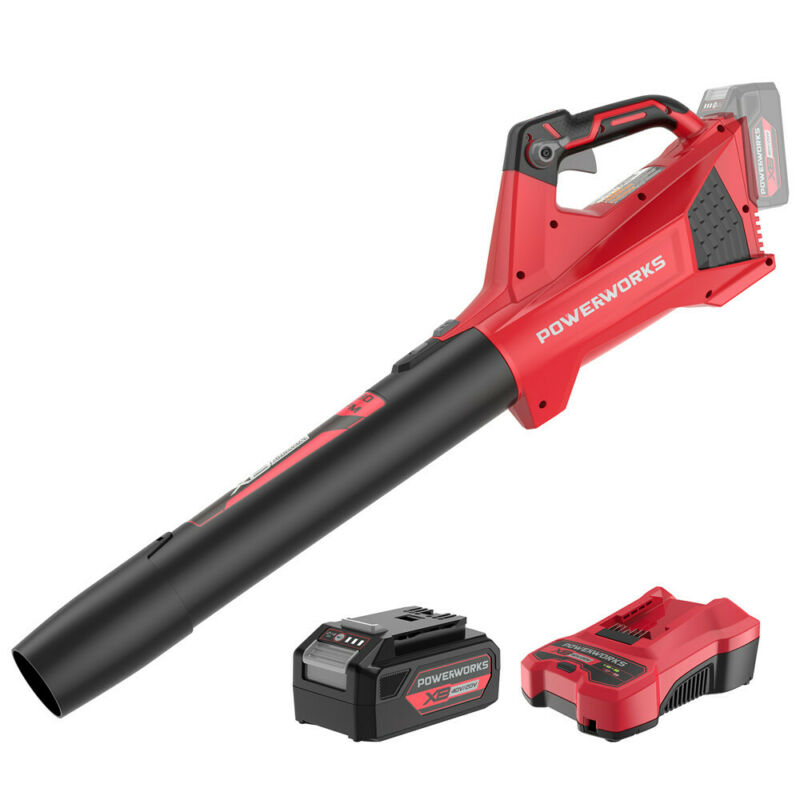 PowerWorks 40V Cordless Leaf Blower 450CFM 120MPH with 2Ah Battery & Charger