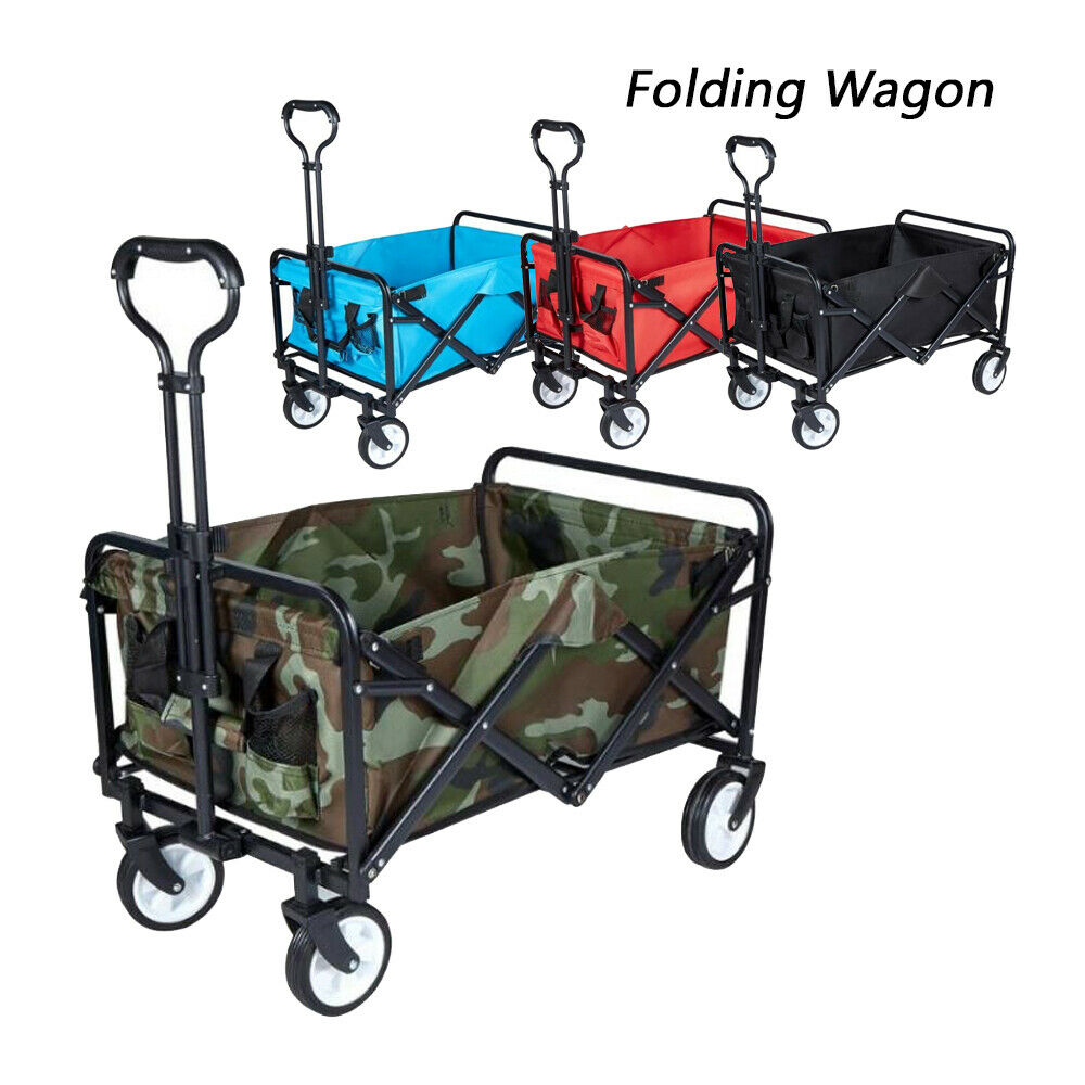 Collapsible Garden Cart Wagon Heavy Duty Utility Outdoor Bea