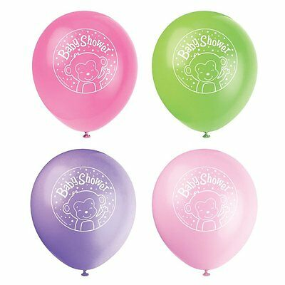 8 X Mädchen Baby Dusche Luftballons Partydekorationen Affe
