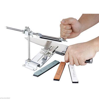 Knife Sharpener Professional Kitchen Sharpening Set System Fix Angle 4 Whetstone