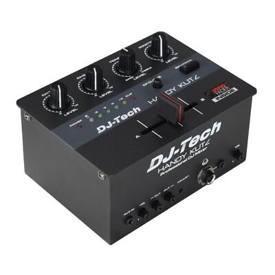 DJ Tech Handy Kutz Small Portable Mini Scratch Cuts Mixer w/ Battery + Innofader ()