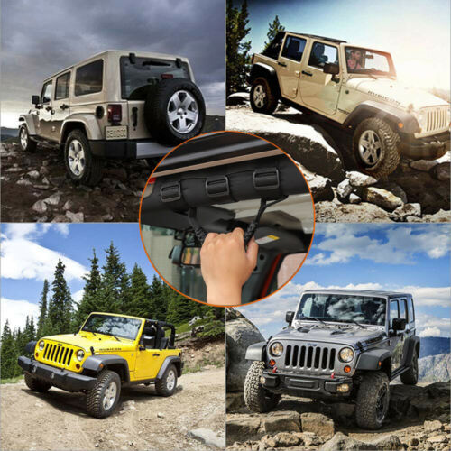 Heavy Duty Roll Bar Grab Handles for 1955-2020 Jeep Wrangler CJ YJ TJ JK JL /& 2020 Jeep Gladiator JT JeCar Grab Handles for Jeep Wrangler Green
