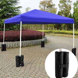 4 X Gazebo Feet Foot Leg Pole Sandbag Anchor Weights Marquee Stall Sand Bags Uk