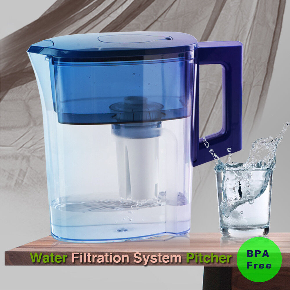 Water Jug Filtration Pitcher Water Purifier Cup 2.5L Replace
