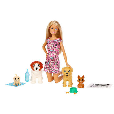 Barbie Doggy Daycare Doll Play Set with Cute Pets and Accessories (Open Box)