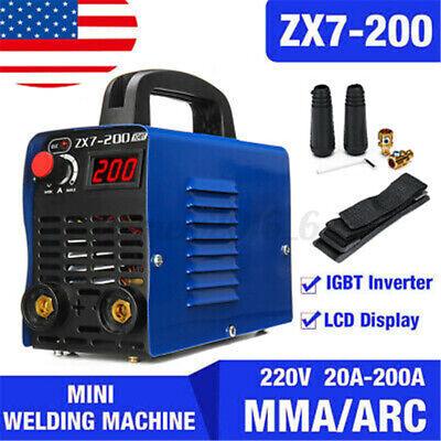 Mini Digital 200a 4000w Mma Arc Electric Welding Machine Dc Igbt Inverter Stick
