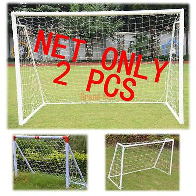 Kids Soccer Nets (2 Pack 6'x4'Ft Football Soccer Goal Net Kids Outdoor Sports Training Match Net )