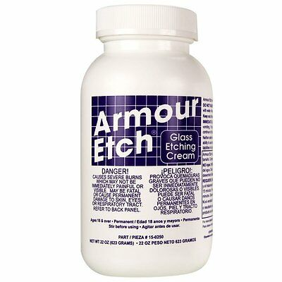 Armour Etch Glass Etching Cream - 22 oz Bottle Armour Etch Glass Etching Cream