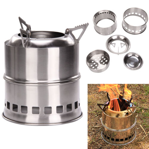 Outdoor wood stove solidified alcohol stove cooking picnic for Outdoor wood cooking stove