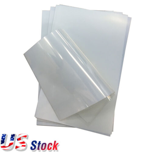 "200 Sheets 8.5"" x 11"" Waterproof Inkjet Transparency Film for Screen Printing"