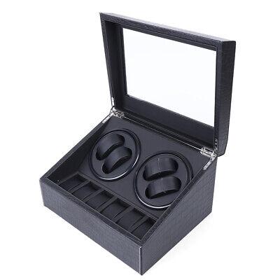 SALE 4+6 Crocodile Pattern Display Case Box Automatic Watch Winder Storage Case