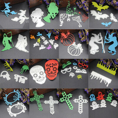 Happy Halloween Stencil (Happy Halloween Cutting Dies Metal Stencil DIY Scrapbooking Album Embossing)