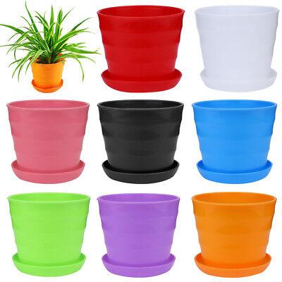 Strong Mini Plastic Flower Pot Succulent Plant Flowerpot Home Office Decor NEW