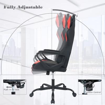 Gaming Chair Racing Chair Office Chair Ergonomic High-Back Leather Chair w/ Arms Business & Industrial