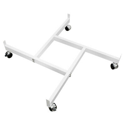 White 4way Pinwheel Rolling Base Display Gridwall Grid Panel Casters Dolly 37x37