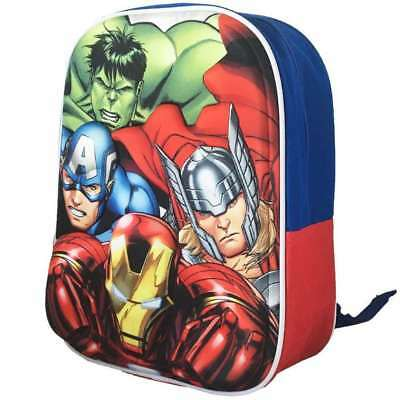 MARVEL COMICS THE AVENGERS 3D KIDS BACKPACK RUCKSACK SCHOOL BAG NEW WITH TAGS ()