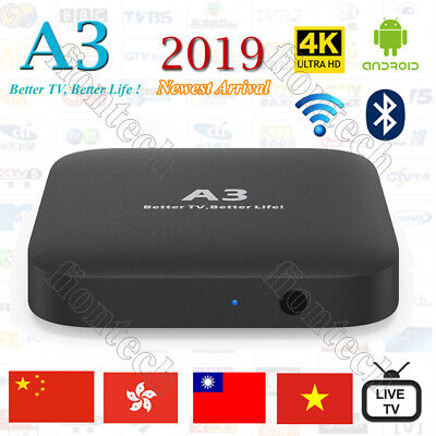 2019 Newest A3 TV BOX Well as HTV5  Chinese/HK/TW Live TV/Movies and Dramas