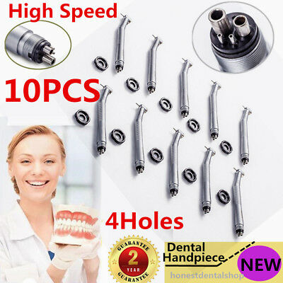10pcs Nsk Style Dental High Speed Handpiece Push Button 4 Hole Us Hot