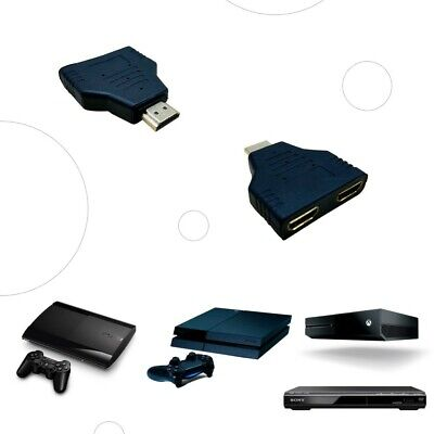 MINI SPLITTER HDMI 1 MACHO X 2 HEMBRA SIN CABLE DUPLICADOR DOS...