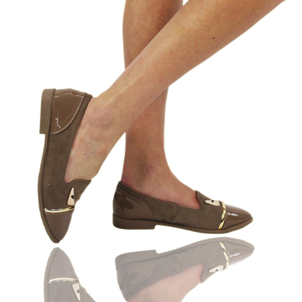 Womens Ballerina Ballet Dolly Pumps Ladies Flats Loafers Shoes Size 3-8