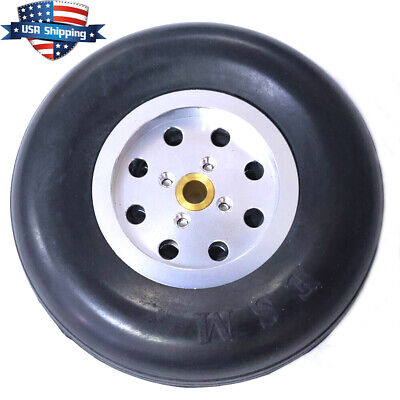 1 Piece 3.5 inch Solid Rubber Wheels Tires with Alu Hub For RC Airplane US Hub Solid Rubber Wheels