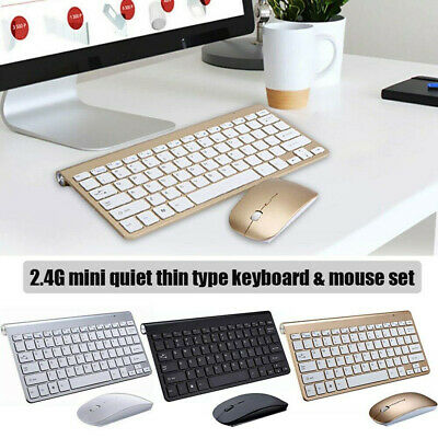 Wireless Keyboard And Mouse Combo Set 2.4G Fits Apple iMac And PC Full Size Slim