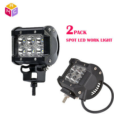 36W 6500K Motorcycle ATV 12LED Headlight Spotlight Fog Spot Lamp DRL Waterproof