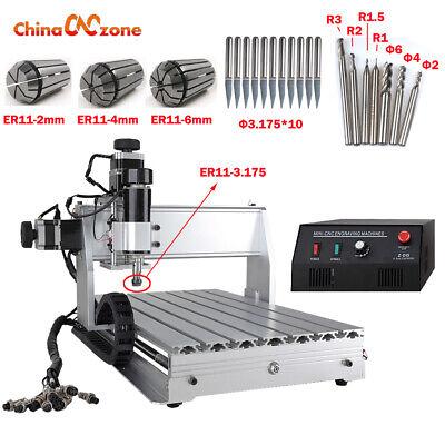 Mini Cnc 3040z-dq 3axis Desktop Engraving Machine 500w Mach 3 Cutting Diy Router