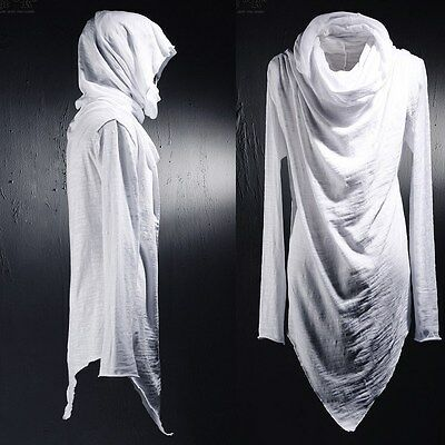 ByTheR Casual Chic Social Best Large Cowl-neck Unique Niche T-shirts White AU N