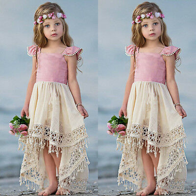 Girls Ruffle Dress (US Toddler Baby Girl Ruffle Tutu Dress Party Princess Pageant Irregular)