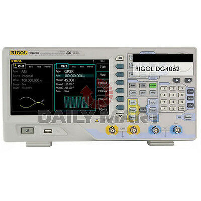 Rigol Functionarbitrary Waveform Generators Dg4062 60mhz 500msas 14 Bits New