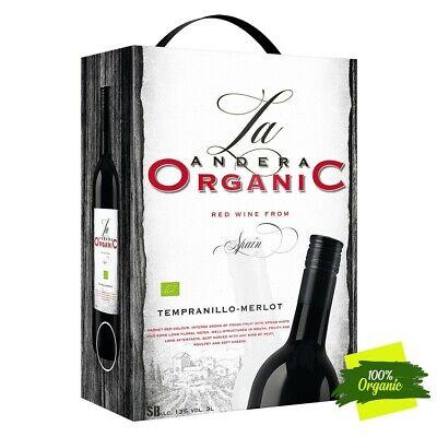 La Andera Organic, Bio ES-ECO-001-CM Rotwein Tempranillo Merlot 13%vol 300cl BiB